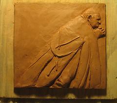 greenware study of Giacomo Manzù's Pope John XXIII