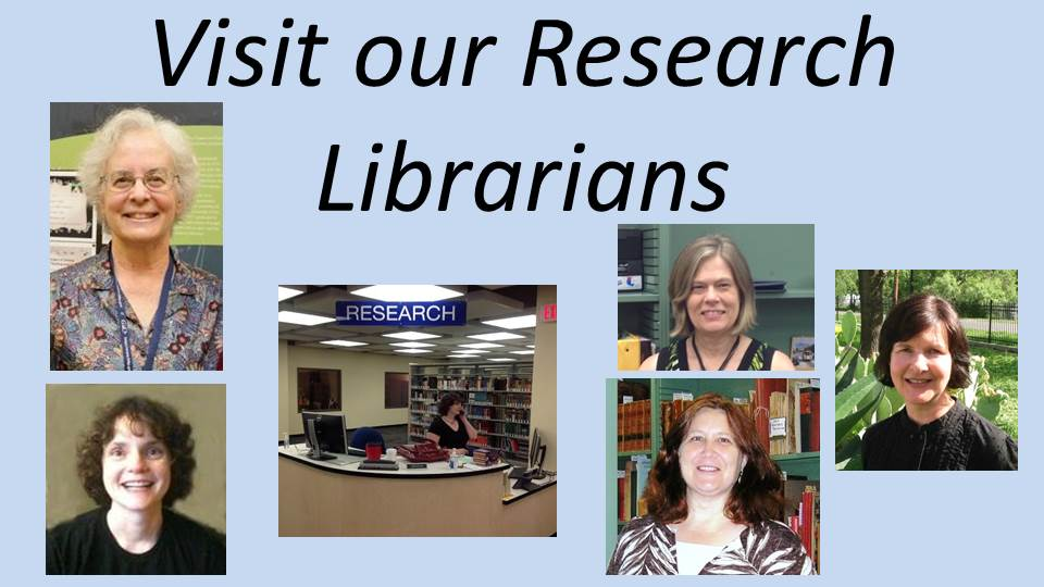 librarians who work at the 1st Floor Research Station