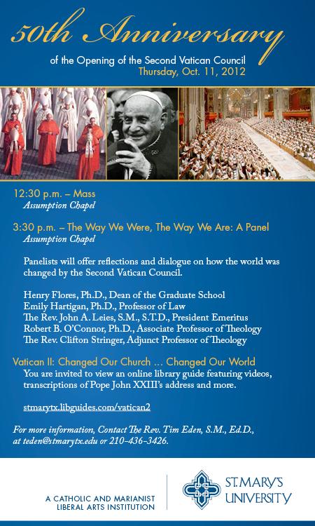 StMU Vatican II Anniversary