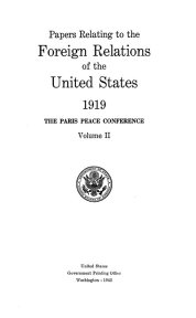 title page from 1919 FRUS