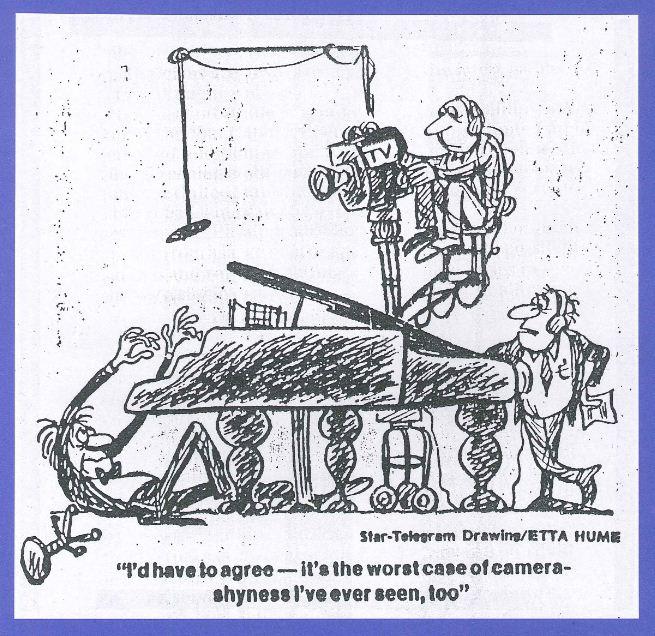 Etta Hulme cartoon, Ft Worth Star-Telegram, 3/1/81