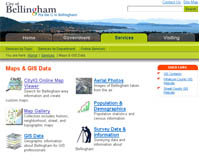 City of Bellingham maps and GIS data