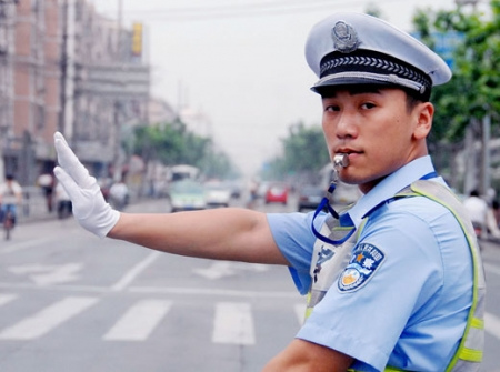 Chinese traffic policeman
