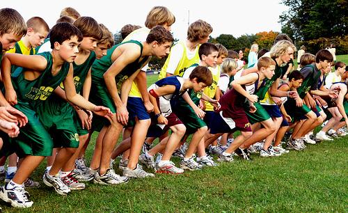 Startng line of a race