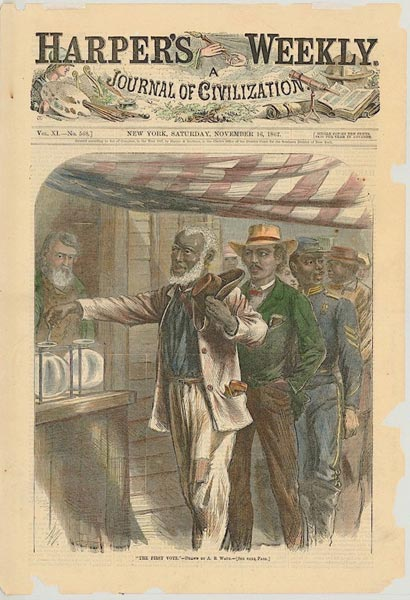The First Vote - Harper's Weekly, 1867