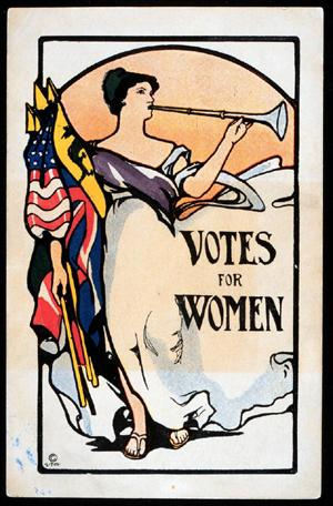 Votes for Women, Postcard from the 1911 California Campaign, Huntington Library