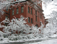 MCZ building in snow