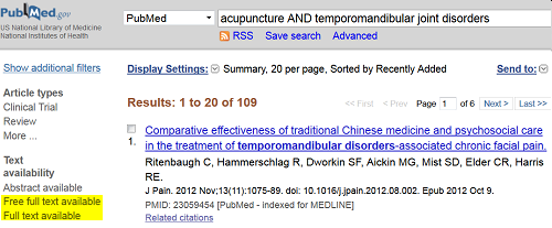 PubMed Filters Sidebar