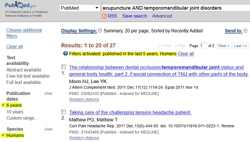 PubMed Selected Filters
