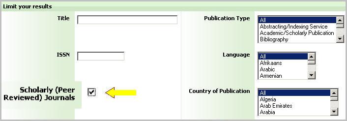 Serials Directory Limits