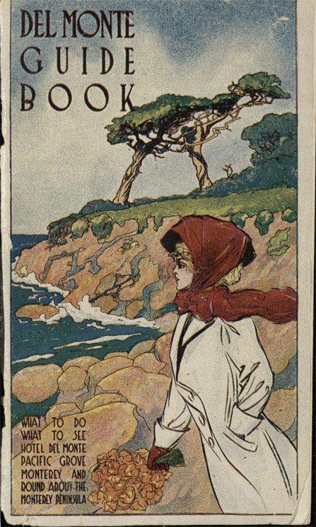 Guest Book Cover 1910. Woman at the beach.