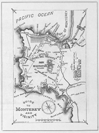 Map of Hotel Del Monte and Monterey Peninsula