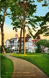 Postcard image of the hotel