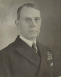 A 1934 photograph taken while Captain Knox served as officer in charge of the Office of Naval Records and of the Library of the Navy Department.