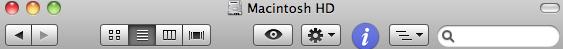 Finder window icons