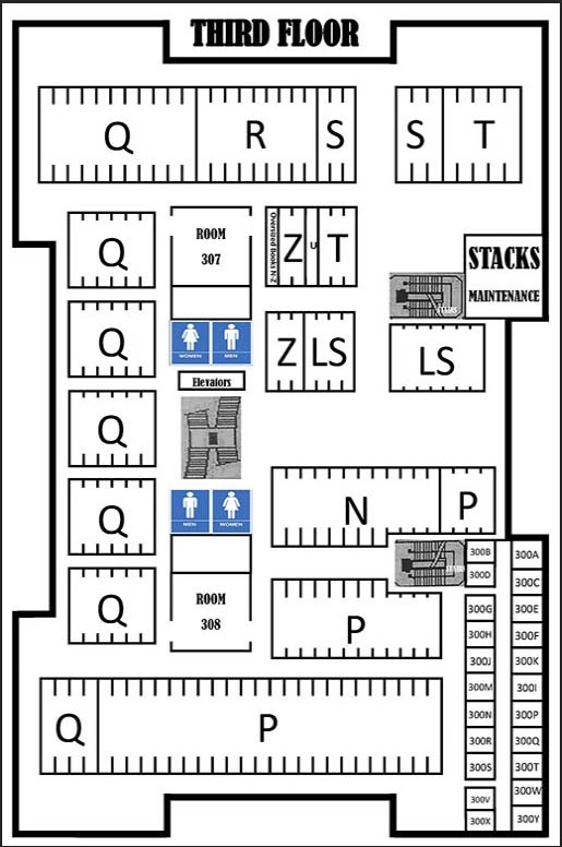Third floor floor map