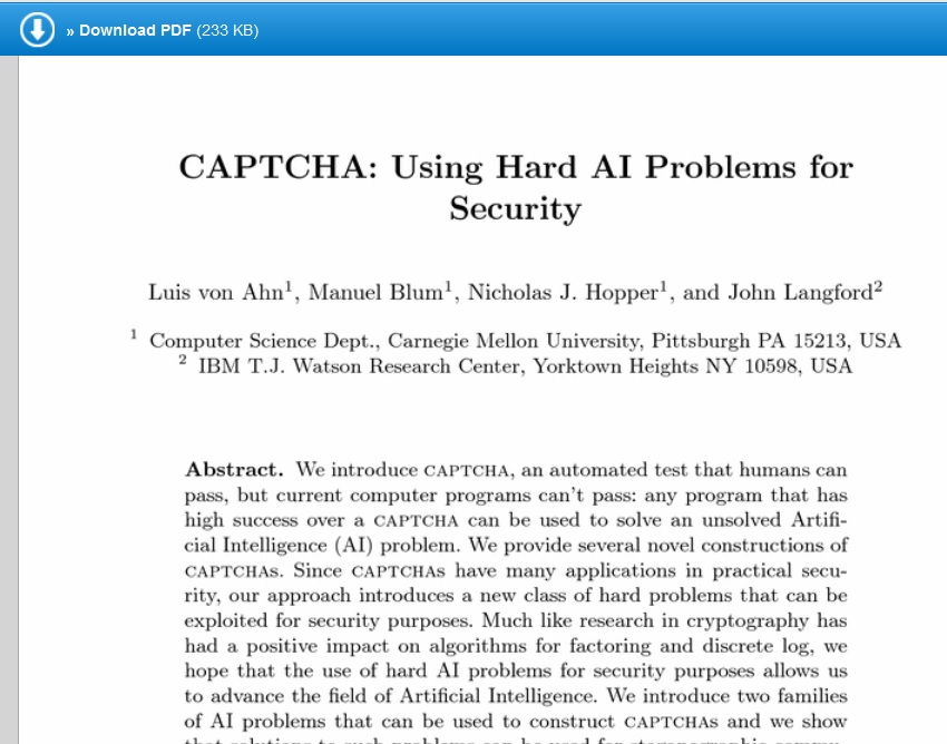 Captcha Paper