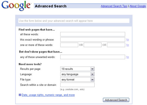 Google Advanced