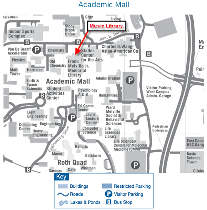 Map of Stony Brook Campus