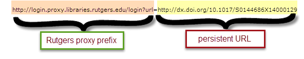 persistent link with proxy prefix