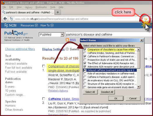 Zotero and PubMed