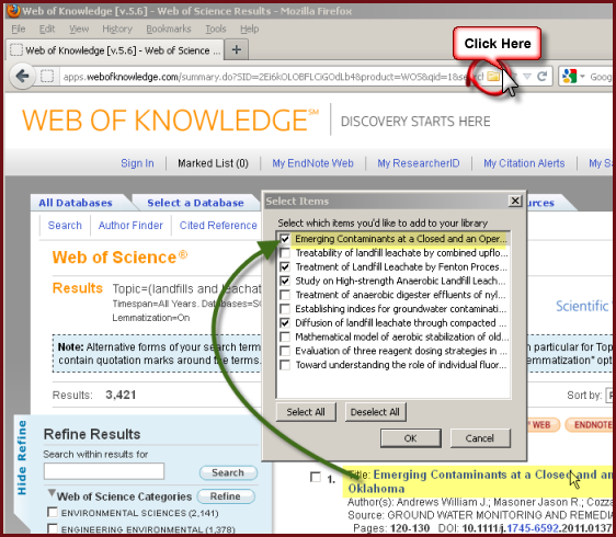 Zotero and Web of Science