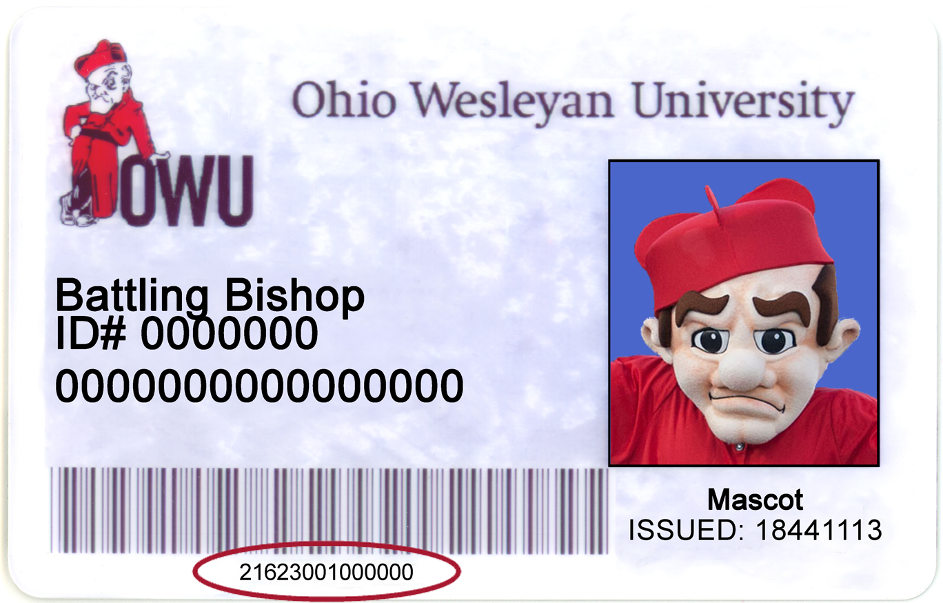 OWU ID with Library Barcode