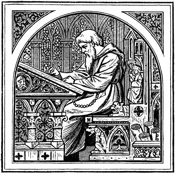 Medieval writing desk