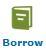 the word BORROW and a book