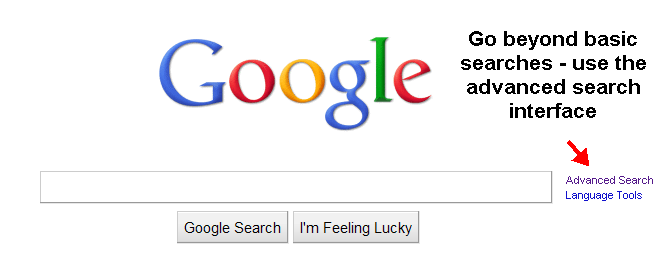 screenshot of the Google homepage