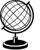 white desk globe
