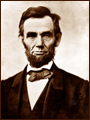 Well known portrait of President Abraham Lincoln.