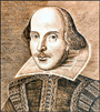 Portrait of playwright William Shakespeare.