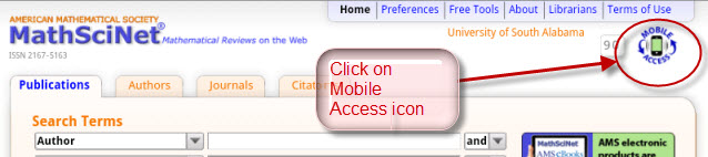 MathSciNet Mobile Access icon