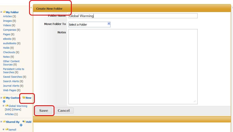 Creae New Folder