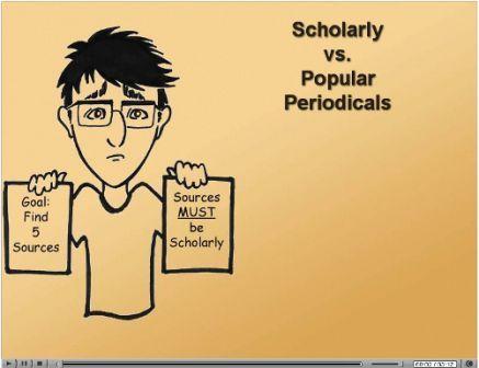 Scholarly vs popular perodicals online tutorial