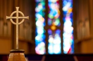 cross on altar