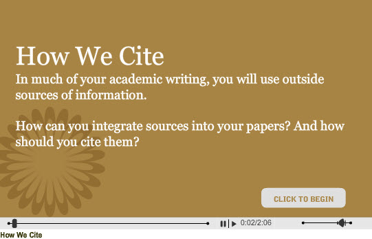 Image of How We Cite Video