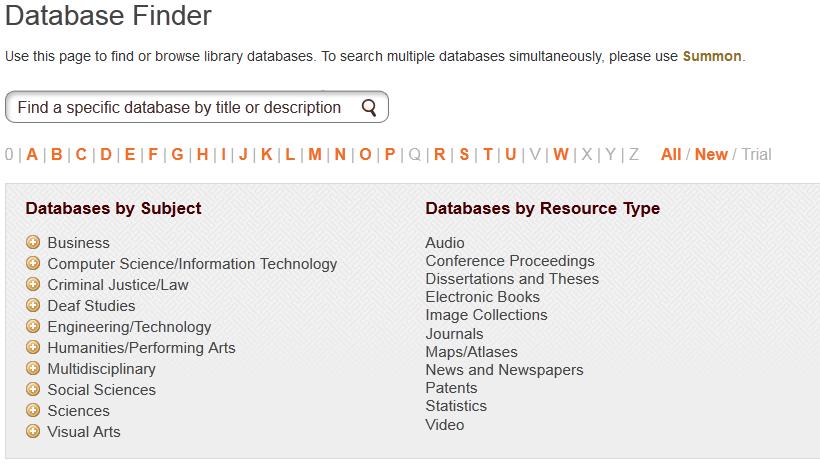 Database finder