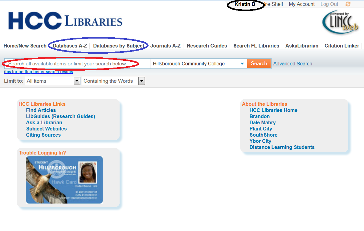 Library Catalog Automatically Logged in