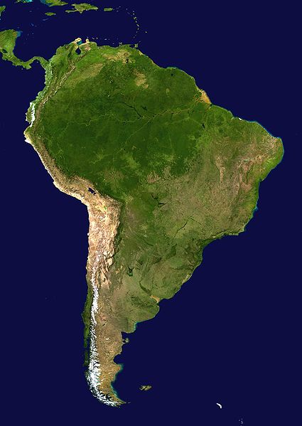 Geographical Map of South America