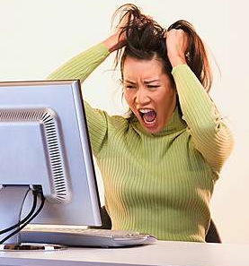 Being frustrated with your computer