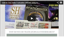 Video on finding trade publication articles