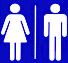 The restroom pictogram.