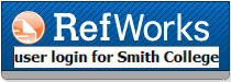 RefWorks logo - Smith College user login