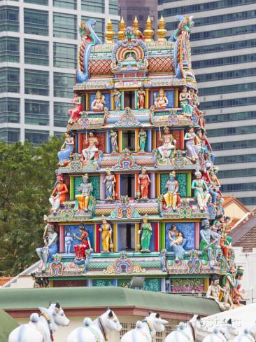 Image of Gopuram of Sri Mariamman Temple