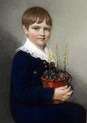 Darwin at 7 years old, 1816
