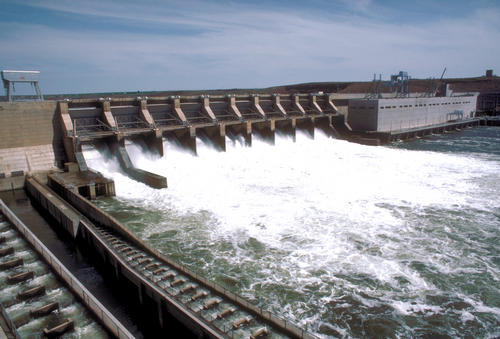 Ice Harbor Dam.  Hydropower produces 10% of the nations energy.
