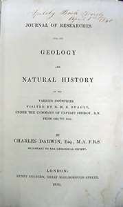 Copy of The Journal of Researches (also known as Voyage of the Beagle)