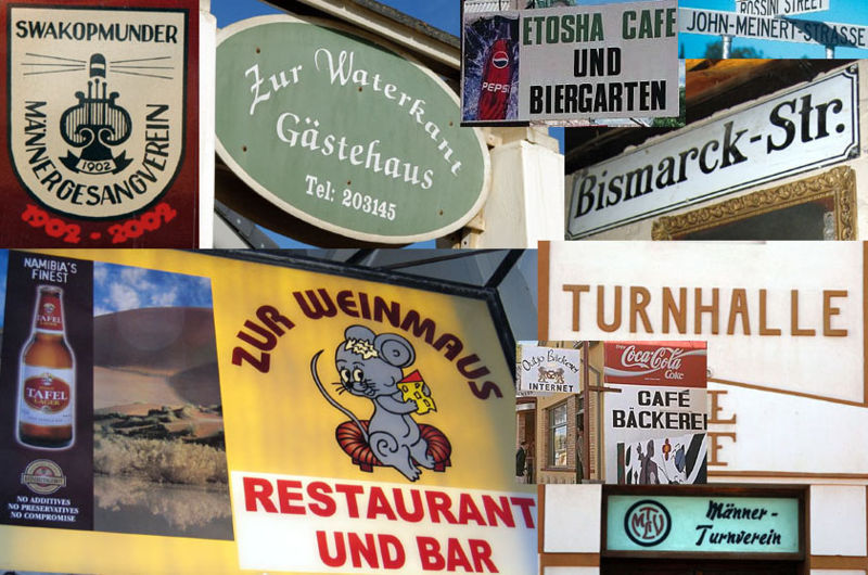 Collage of German Signs